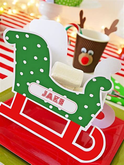 how to make personalized cards make personalized sleigh place cards hgtv