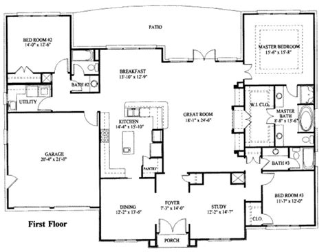 one storey house plans house plan simple one story house floor plans large