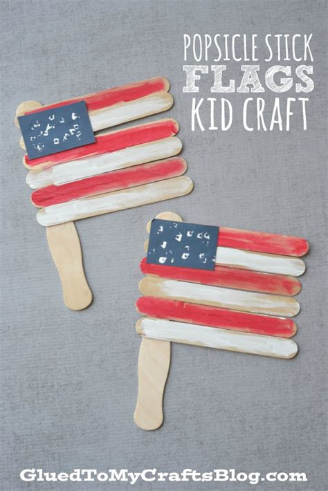 popsicle stick crafts for to make popsicle stick flags kid craft