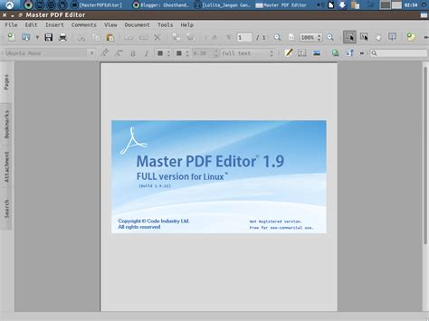 mastering pdf master pdf editor edit file pdf di linux