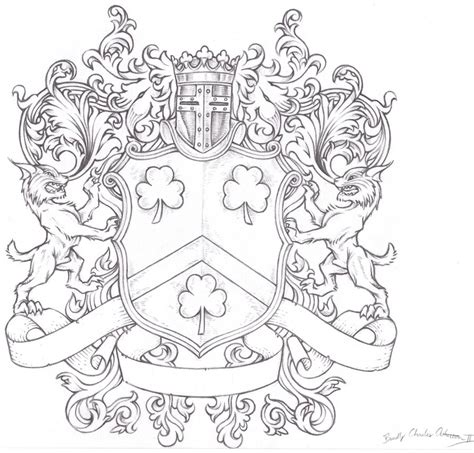 lynch family crest by forsakethesane on deviantart