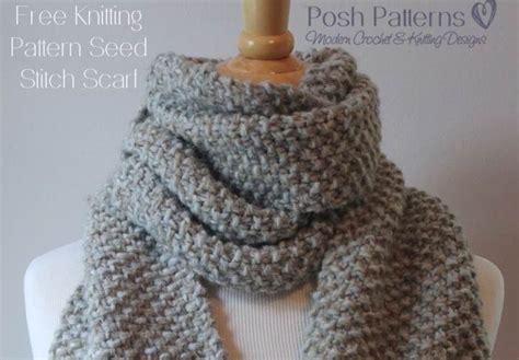 knit scarf pattern free free beginner scarf knitting pattern posh patterns