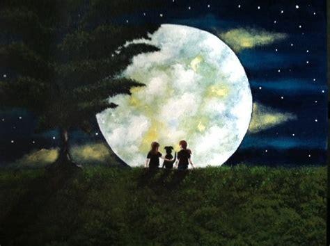 Acrylic Painting Moonlight Painting