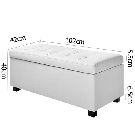 white leather storage ottoman bench large storage ottoman bench white pu leather buy