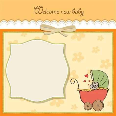 templates free baby announcement card template vector free