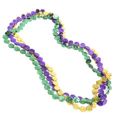 mardi gras bead mardi gras coin bead necklaces