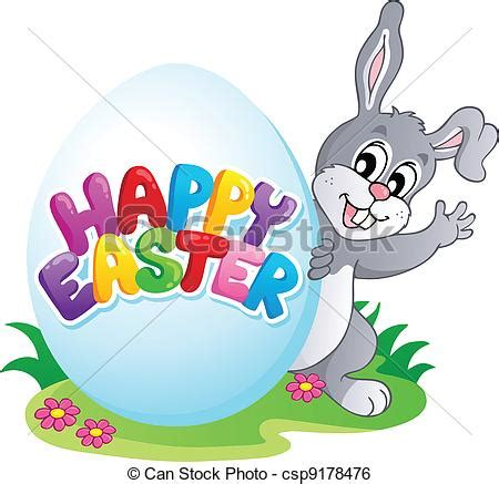 Free Happy Easter Clip by Happy Easter Sign Theme Image 4 Vector Illustration