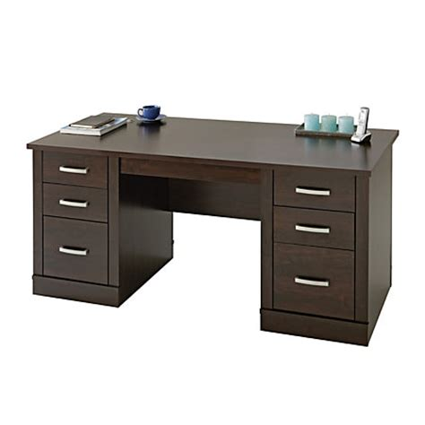 office depot office desk sauder office port executive desk alder by office