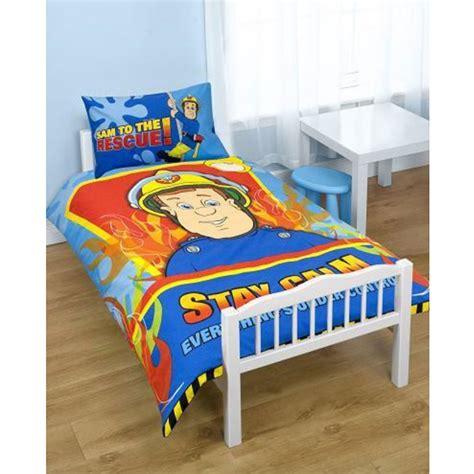 parure housse de couette lit bebe enfant fireman sam produit officiel ebay