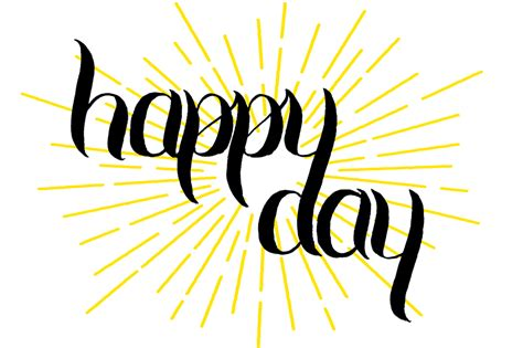 happy day lunch time lettering happy day ward