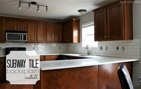 kitchen backsplash tile installation duo ventures kitchen makeover subway tile backsplash