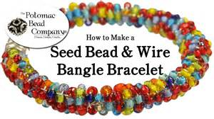 how to make a seed bead bracelet how to make a seed bead wire bangle bracelet