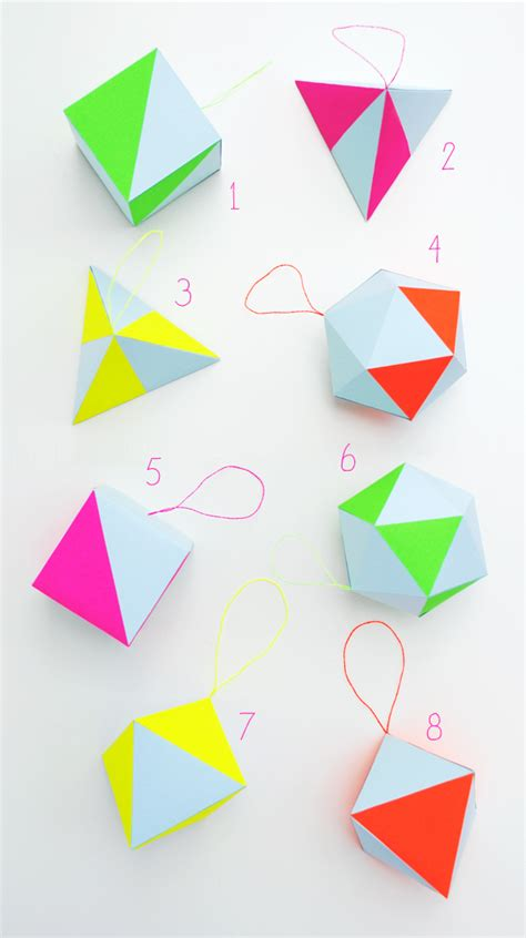 paper craft kit paper craft kit pastel neon geometric decorations