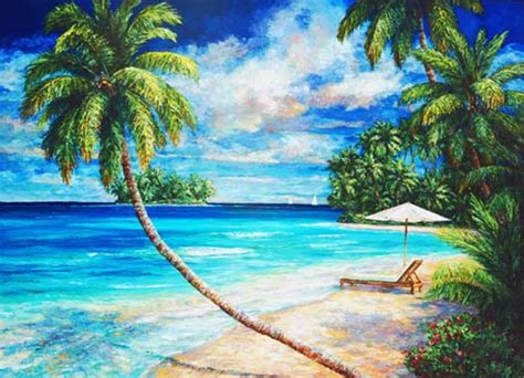 paint island tropical seascapes original paintings by sissi janku