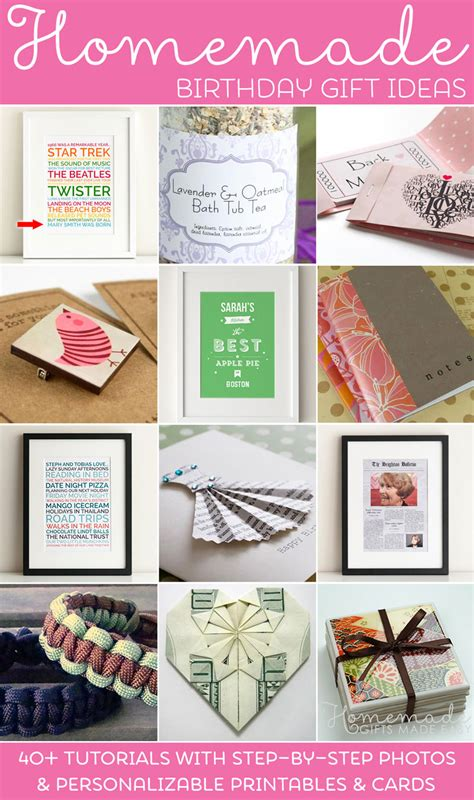 gifts for to make birthday gifts ideas