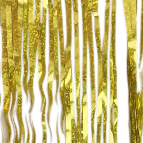 icicle tinsel holographic tinsel icicle garland gold