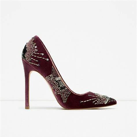 beaded high heel shoes 34 zara shoes zara beaded velvet high heel