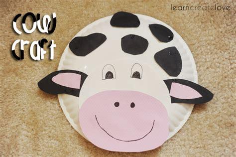 paper plate cow craft paper plate cow craft