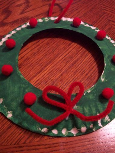 paper plate wreath crafts wreath preschool crafts