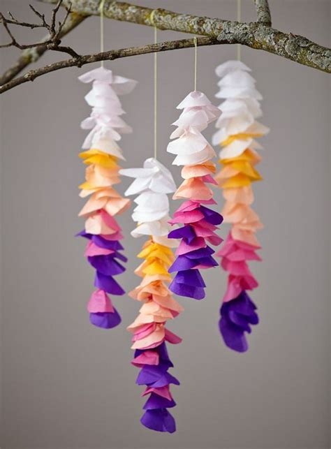 craft work with tissue paper crafts made from tissue paper