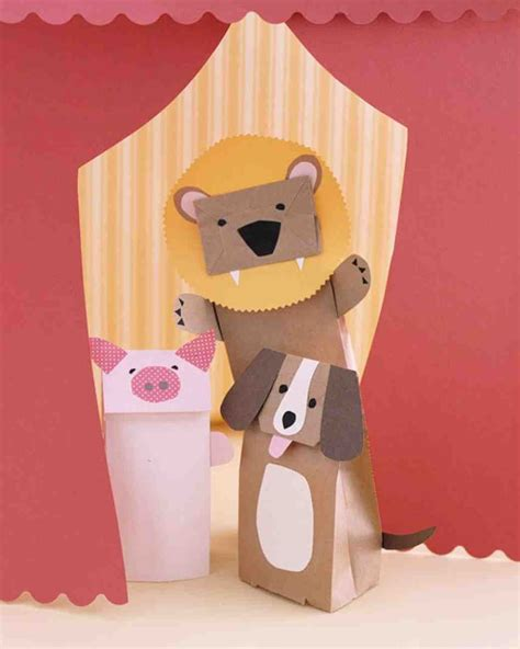 paper bag puppet craft paper bag animal puppets pictures photos and images for