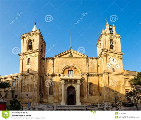 st companies st s co cathedral in valletta malta stock image