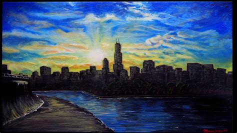 paint nite chicago chicago skyline painting in stop motion glen shackley