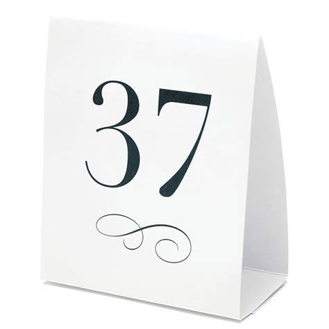 how to make table number cards table number tent style card the knot shop