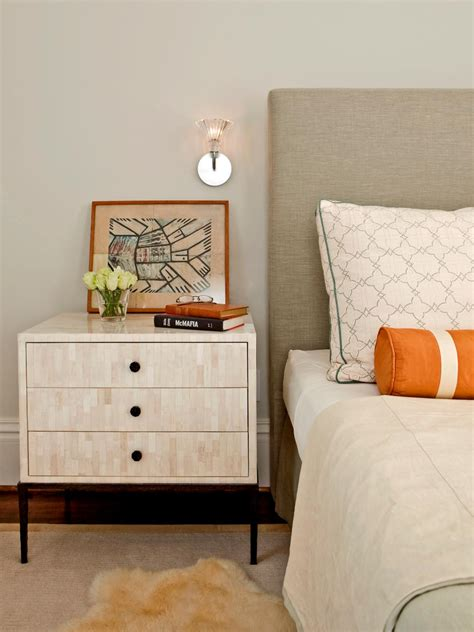 ideas for nightstands tips for a clutter free bedroom nightstand hgtv