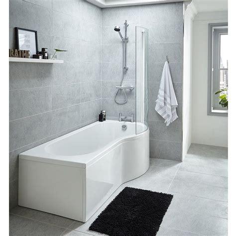 right shower bath premier 1500mm p shaped right whirlpool shower bath