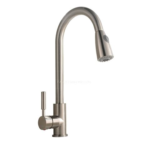 industrial kitchen faucet brushed nickel rotatable brass pull commercial kitchen faucet with sprayer