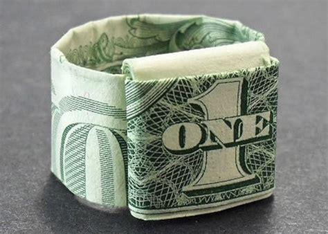 dollar bill ring origami dollar ring origami wacky wednesday ideas