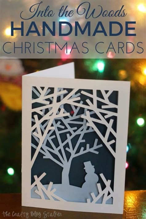 make your cards how to make into the woods handmade cards