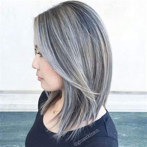 black grey hair silver and white hair highlights best hair color trends