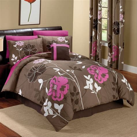pink and brown comforter set chocolate and pink floral comforter set for the home