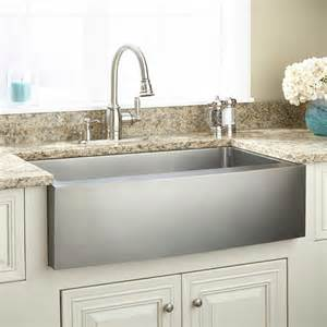 stainless farmhouse kitchen sinks 33 quot optimum stainless steel farmhouse sink curved apron