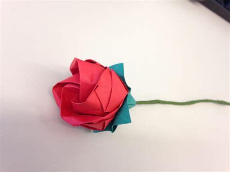 rosa de origami rosa em origami plicat elo7