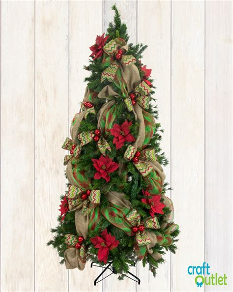 decorating trees with deco mesh how to decorate a tree with deco mesh
