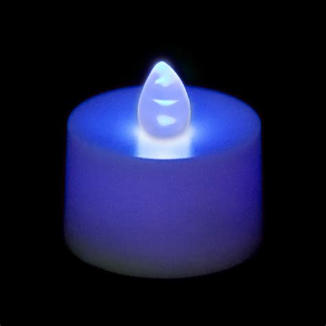 blue candles flickering battery operated tea light candle blue