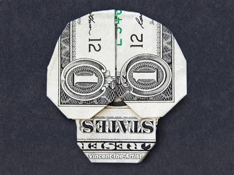 skull origami dollar bill origami skull money