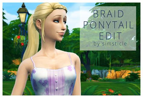 custom contant hair in the sims 4 sims community the sims 4 custom content braid ponytail
