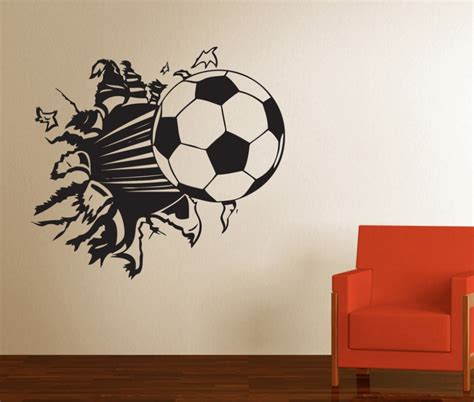 soccer wall stickers stickonmania vinyl wall decals soccer smashed