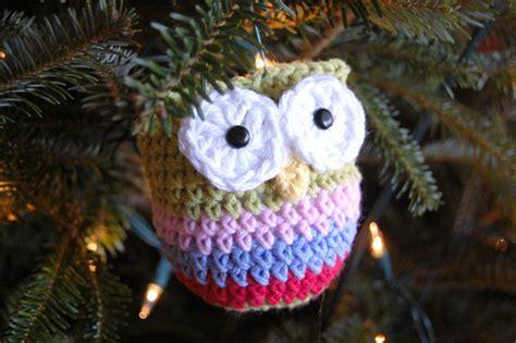 owls ornaments hopscotch crochet owl ornament pattern