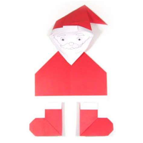 simple origami santa claus how to make an easy origami santa claus page 1