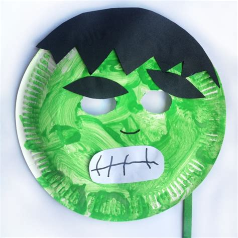 paper plate mask craft paper plate mask masking and craft