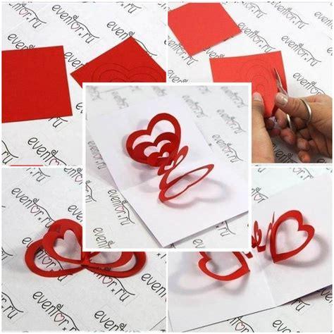 3d card ideas diy 3d hearts s day card