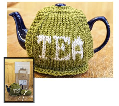 knitted kits intermediate knitting kit tea tea cosy