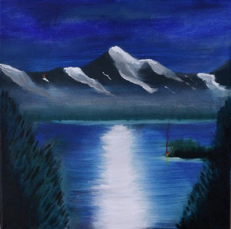 painting acrylic landscapes easy way image result for simple canvas paintings for beginners