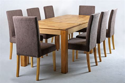 dining table and four chairs solid oak extending dining table and chairs set