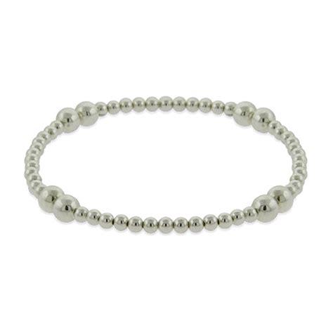 stretch bead bracelets sterling silver bead stretch bracelet ebay